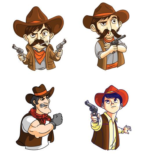 Cowboy cartoon character vector
