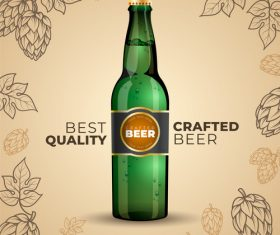 Crafted beer poster vector