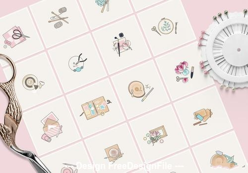 Crafts and hobbies icon vector
