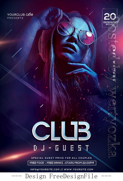 Creative DJ Night Party Poster and Flyer PSD Template