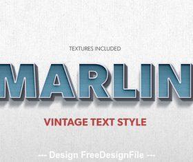 Creative Vintage PSD Text Styles