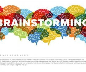 Creative brainstorming infographic vector