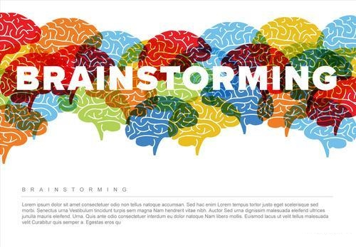 Creative brainstorming infographic vector