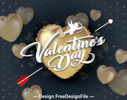 Creative valentines day greeting card vector