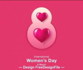 Creative womens day greeting card vector