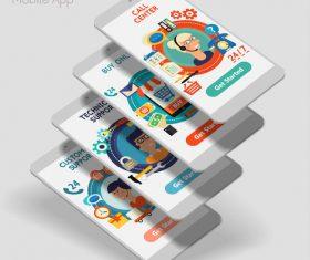Customer support mobile app vector
