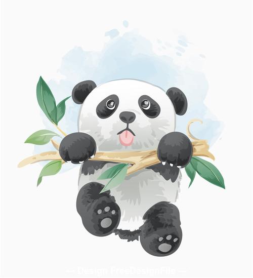 Cute Panda Cartoon Vector Free Download