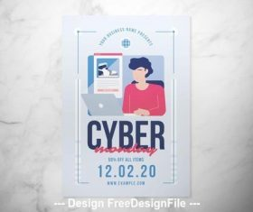 Cyber monday flyer vector