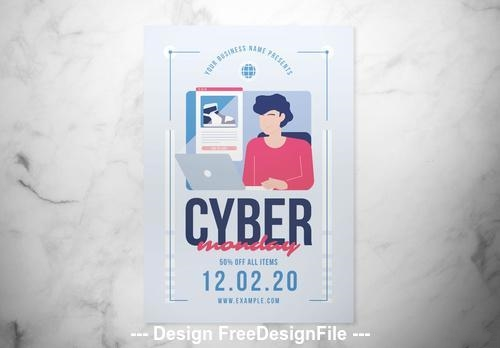 Cyber monday flyer vector