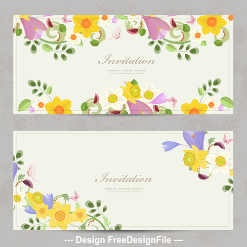 Daffodil card vector