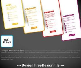 Dark background Product options infographic vector