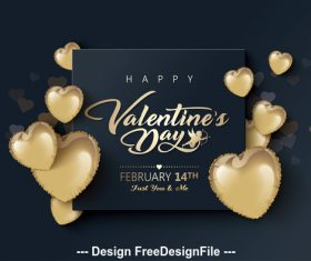 Dark background valentines day greeting card vector