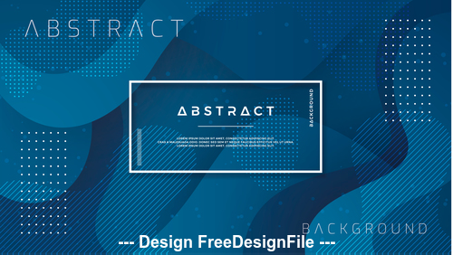 Dark blue background abstract element card vector