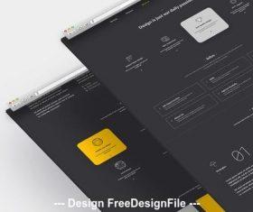 Dark company website with orange vector