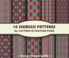Dark seamless pattern vector