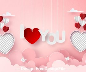 Design valentines day greeting card vector