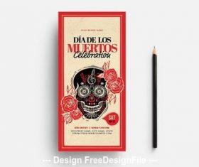 Dia de los muertos mexican skull illustrations vector