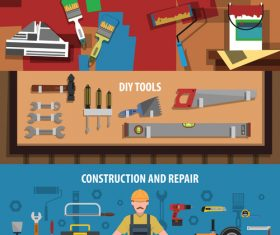 Diy tools banner vector