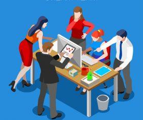 Dream team focused on teamwork vector
