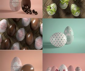 Easter egg with banter psd template