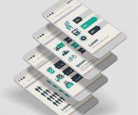 Eco app dashboard mobile ui kit vector