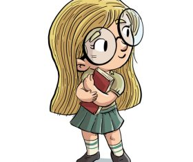 Elementary school student vector