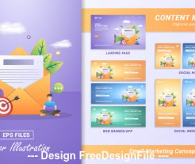Emall marketing concept vector