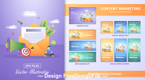 Emall marketing concept vector