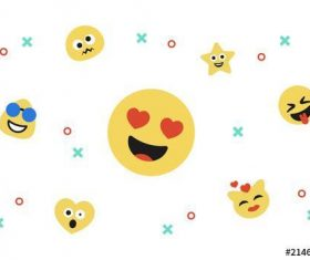 Emoji icon kit vector