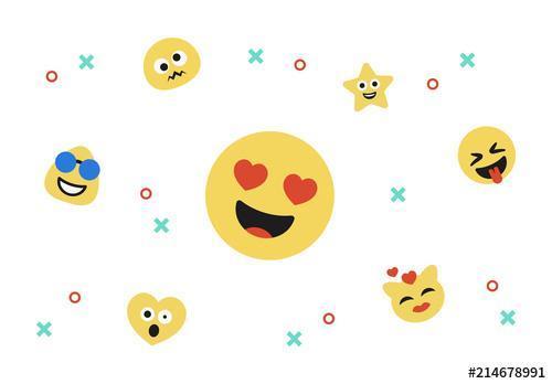 Emoji icon kit vector