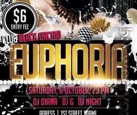Euphoria Party Flyer PSD Template