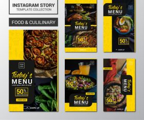 Featured food presentation pictures templates vector