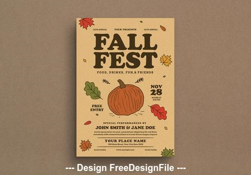 Festival event graphic flyer vector