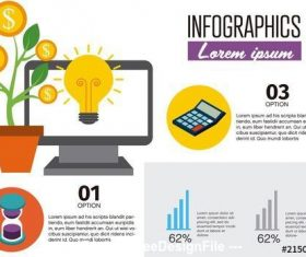Finance Infographic vector