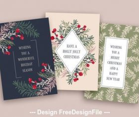 Floral holiday card vector