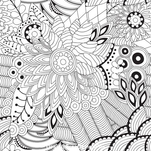 Flower line pattern vector