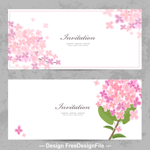 Flowers background invitation vector