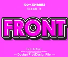 Font effect style illustration vector
