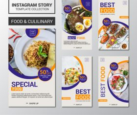 Food collection design templates vector