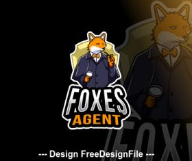 Foxes agent logo template vector