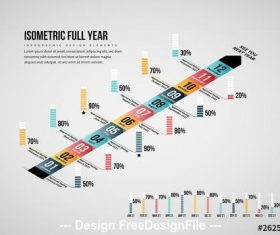 Full year infographic vector
