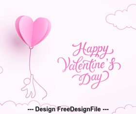 Funny valentines day card vector