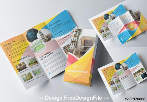 Furniture product color flyer vector