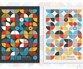 Geometric brochure design grunge texture vector