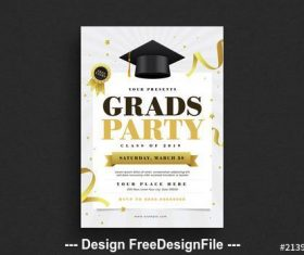 Graduation party flyer vector
