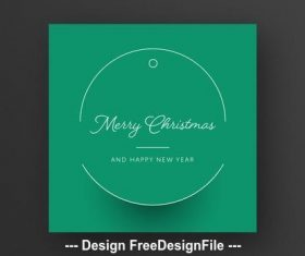 Green card layout with festive vector