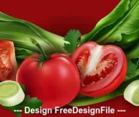 Green tomato vector