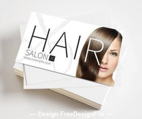 Hair salon with scissors logo vector