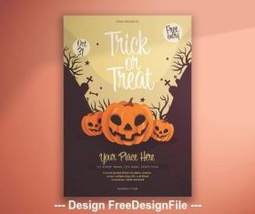 Halloween illustrative pumpkins vector