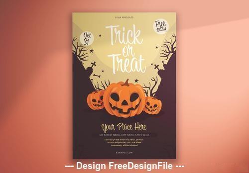 Halloween illustrative pumpkins vector